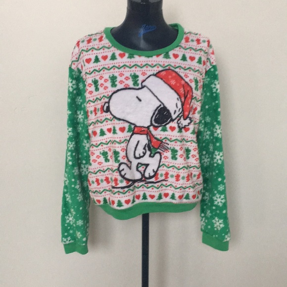peanuts snoopy christmas sweater
